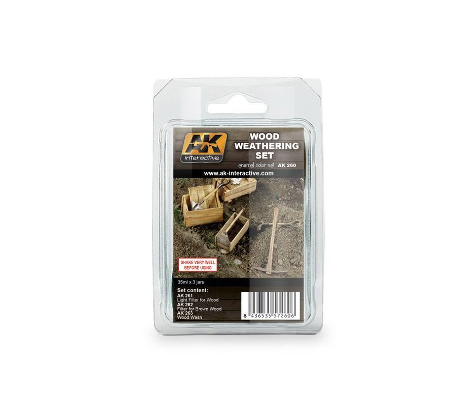 Wood Weathering Set - 3x35ml - AK-260