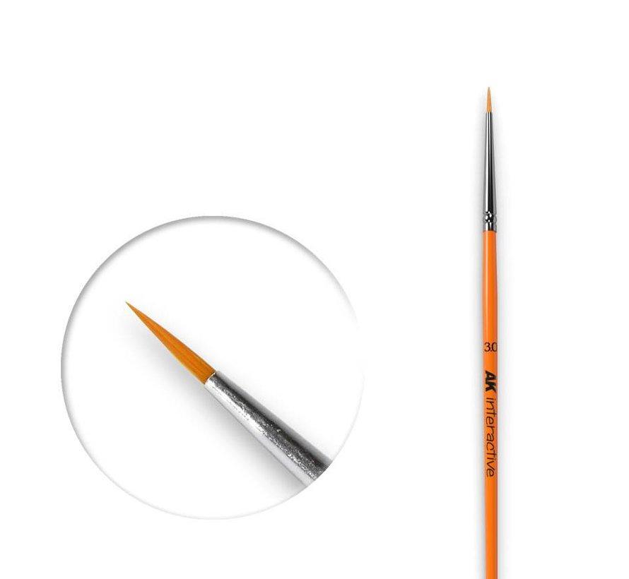 Round Brush 3/0 Synthetic - AK601