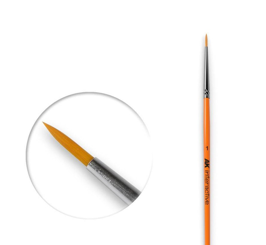 Round Brush 1 Synthetic - AK603