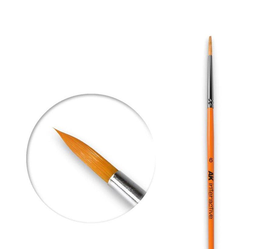 Round Brush 6 Synthetic - AK606