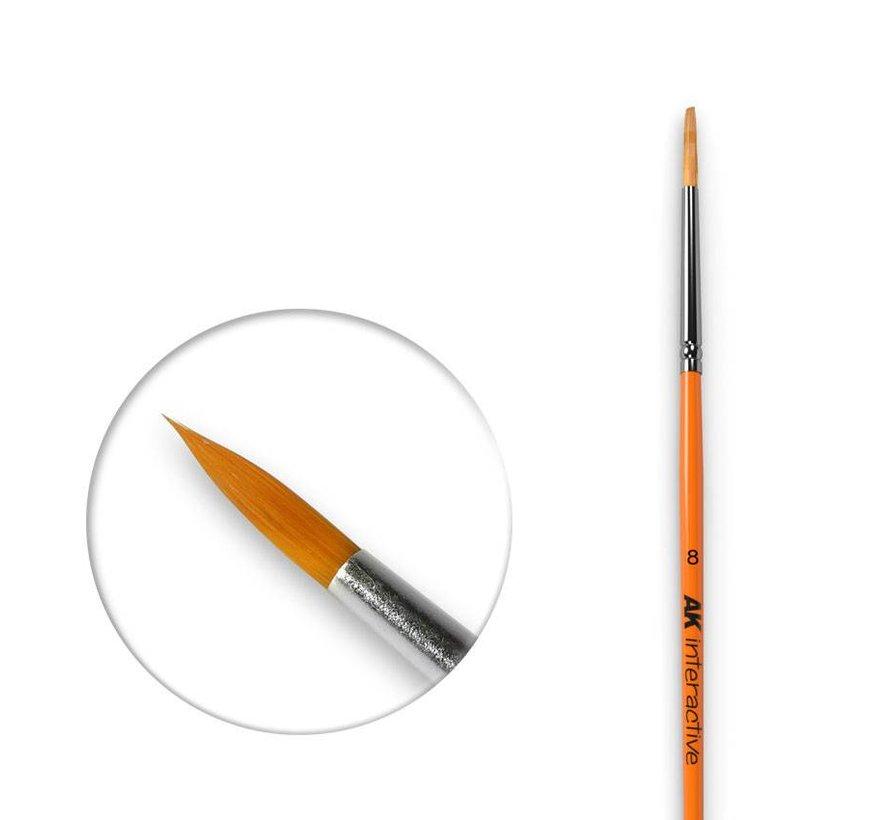 Round Brush 8 Synthetic - AK607