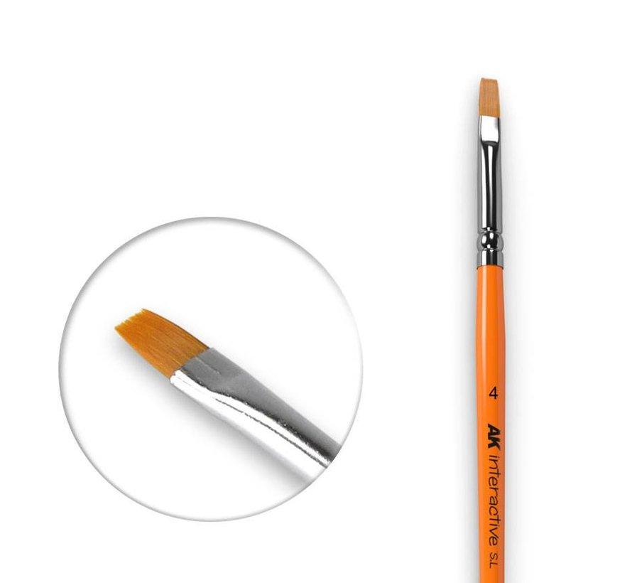 Flat Brush 4 Synthetic - AK610
