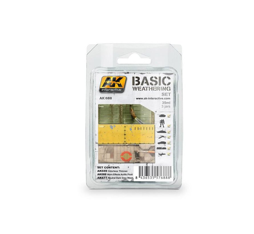 Basic Weathering Set - 3x35ml - AK-688