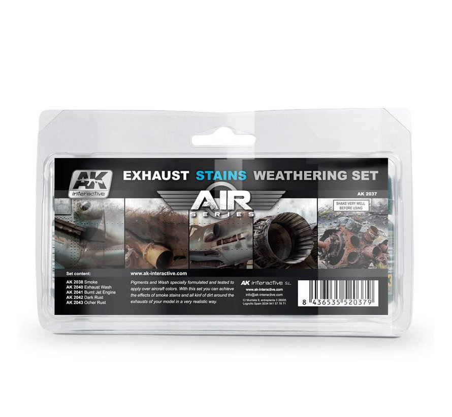 Exhaust Stains Weathering Set - AIR series - 5x35ml - AK2037