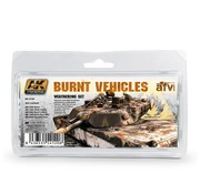 AK interactive Burnt Vehicles Set - 5x35ml - AK-4120