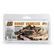 AK interactive Burnt Vehicles Set - 5x35ml - AK4120
