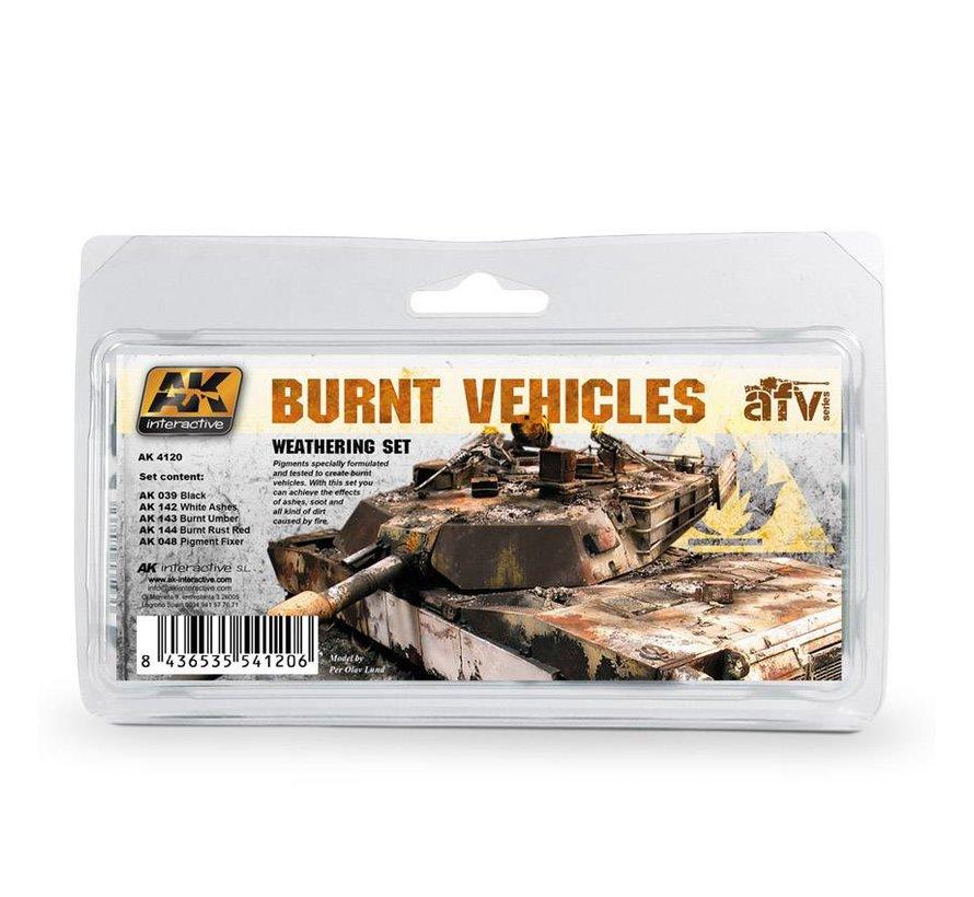 Burnt Vehicles Set - 5x35ml - AK-4120
