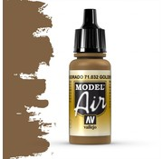 Vallejo Model Air Golden Brown - 17ml - 71032