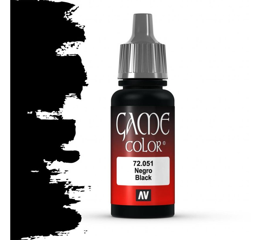 Game Color Black - 17ml - 72051