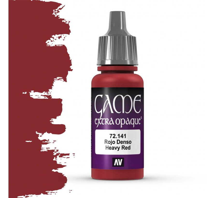 Game Extra Opaque Heavy Red - 17ml - 72141