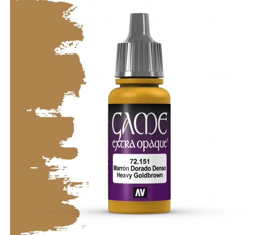 Game Extra Opaque Heavy Gold Brown - 17ml - 72151