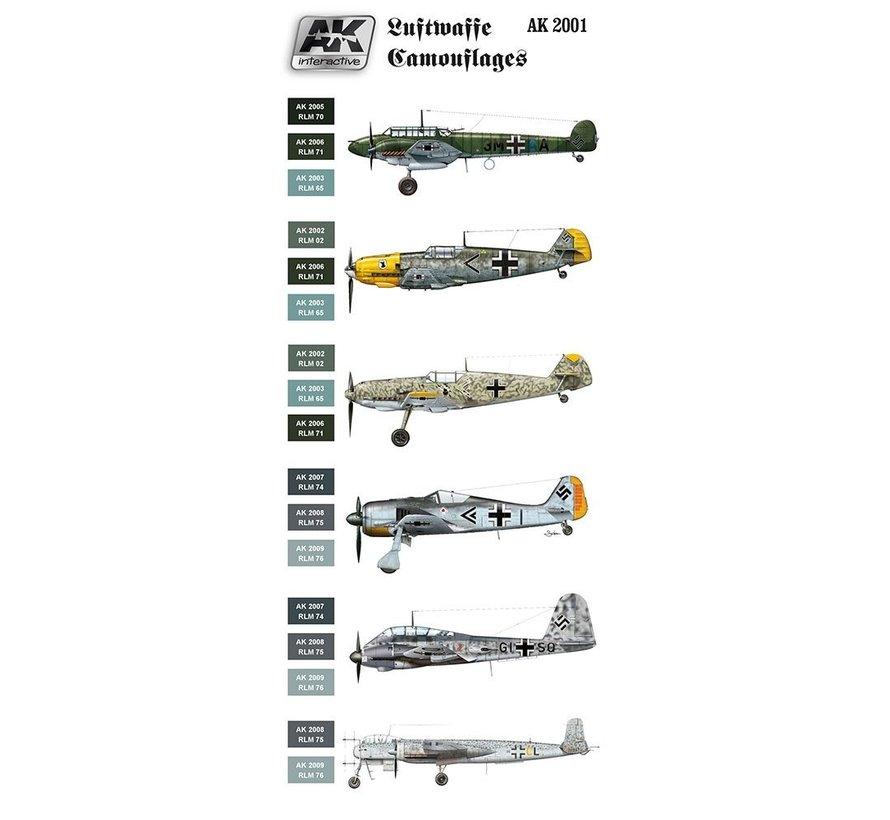 Luftwaffe Camouflages Air Series - 8 kleuren - 17ml - AK2001