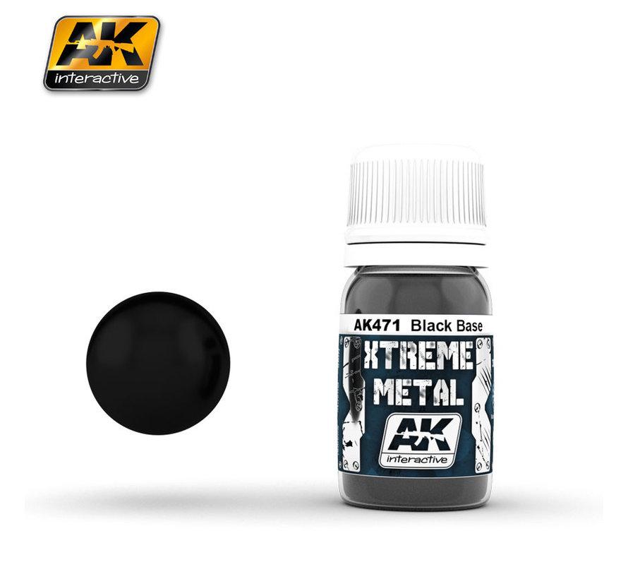 Xtreme Metal Black Base - 30ml - AK471