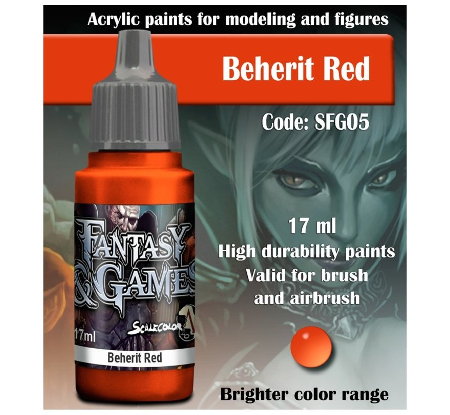 Beherit Red - Fantasy & Games - 17ml - SFG-05