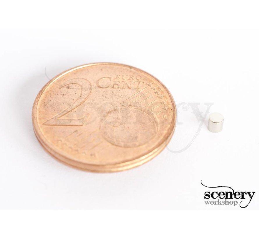 2mm x 2mm Rare Earth Magneten voor miniaturen - 60x - S-02-02-N-60