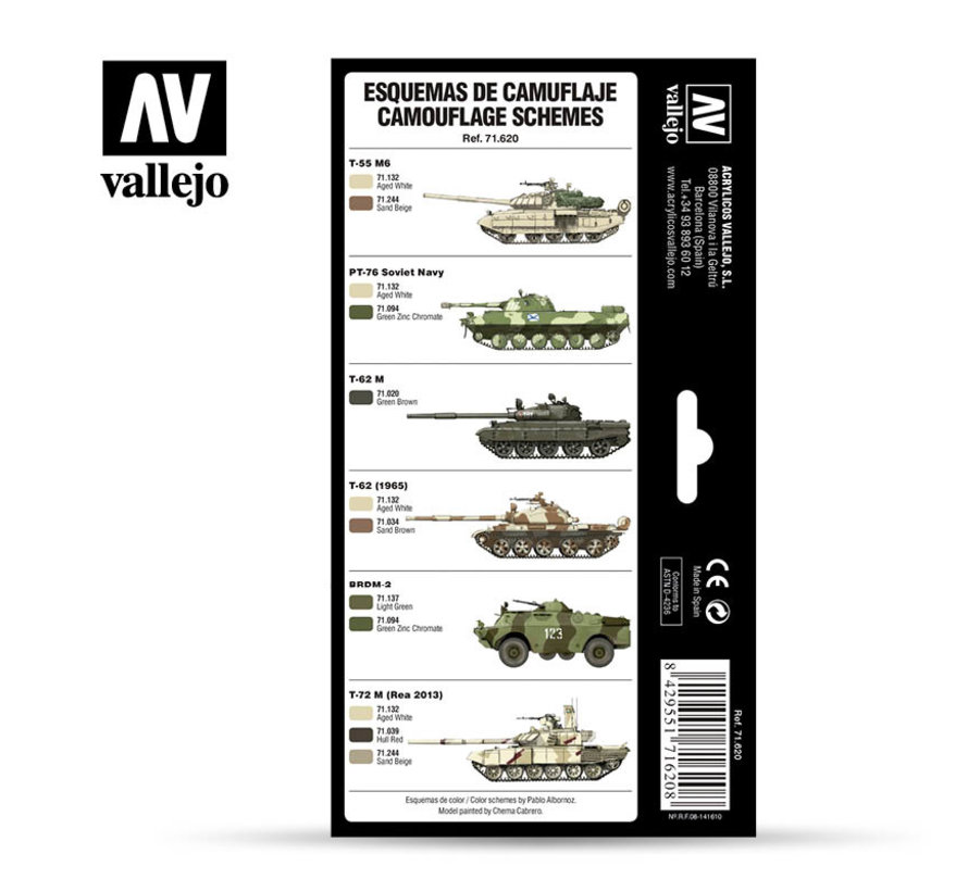 Model Air AFV Series Cold War & Modern Russian Desert Patterns - 8 kleuren - 17ml - 71620