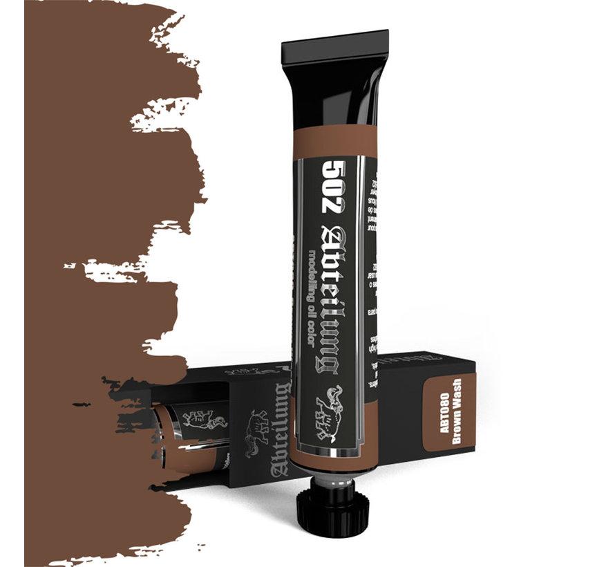 Brown Wash Modeling Oil Color - 20ml - ABT080