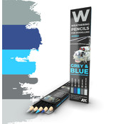 AK interactive Weathering Pencil Set Grey and Blue - 5 kleuren - AK10043