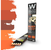 AK interactive Weathering Pencil Set Rust and Streaking - 5 kleuren - AK10041