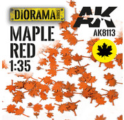 AK interactive Lasercut Leaves Maple Red 1:35 - AK8113