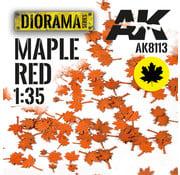 AK interactive Lasercut Leaves Maple Red 1:35 - AK8113