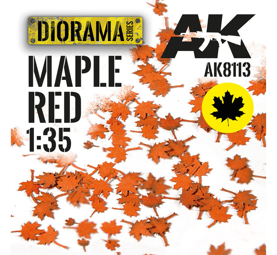 Lasercut Leaves Maple Red 1:35 - AK8113