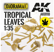 AK interactive Lasercut Leaves Tropical Leaves 1:35 - AK8110