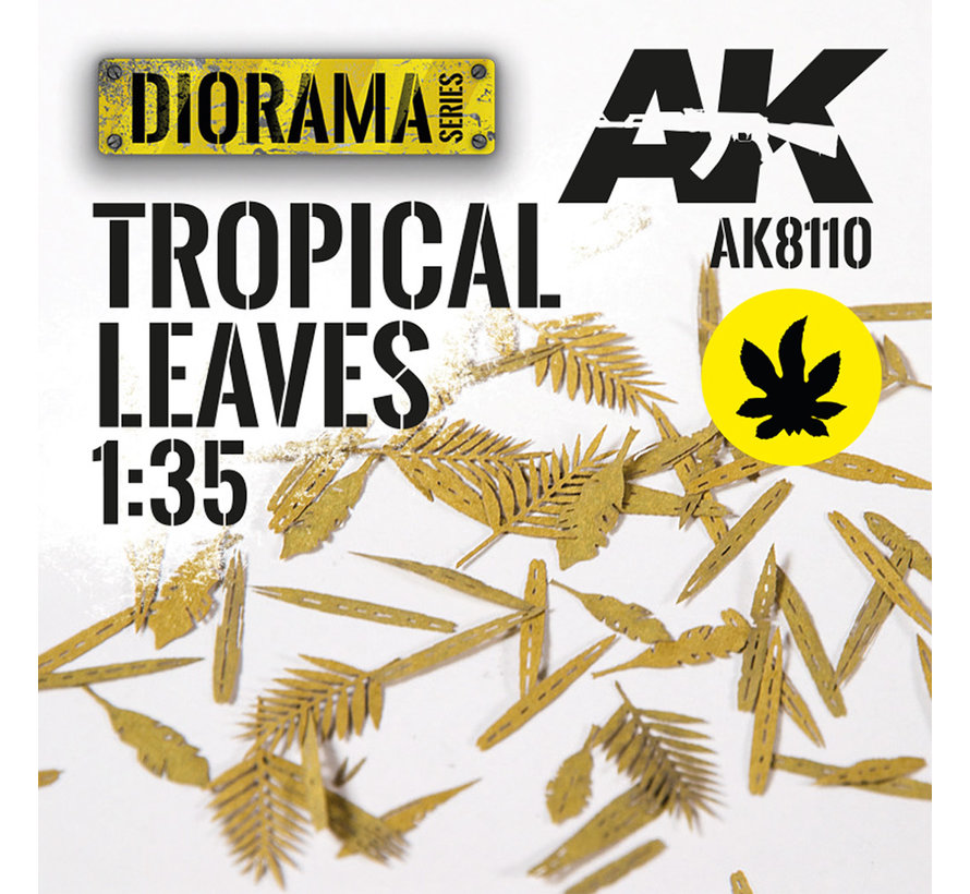 Lasercut Leaves Tropical Leaves 1:35 - AK8110