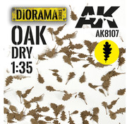 AK interactive Lasercut Leaves Oak Dry Leaves 1:35 - AK8107