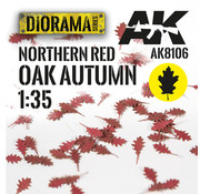 AK interactive Lasercut Leaves Northern Red Oak Autumn 1:35 - AK8106