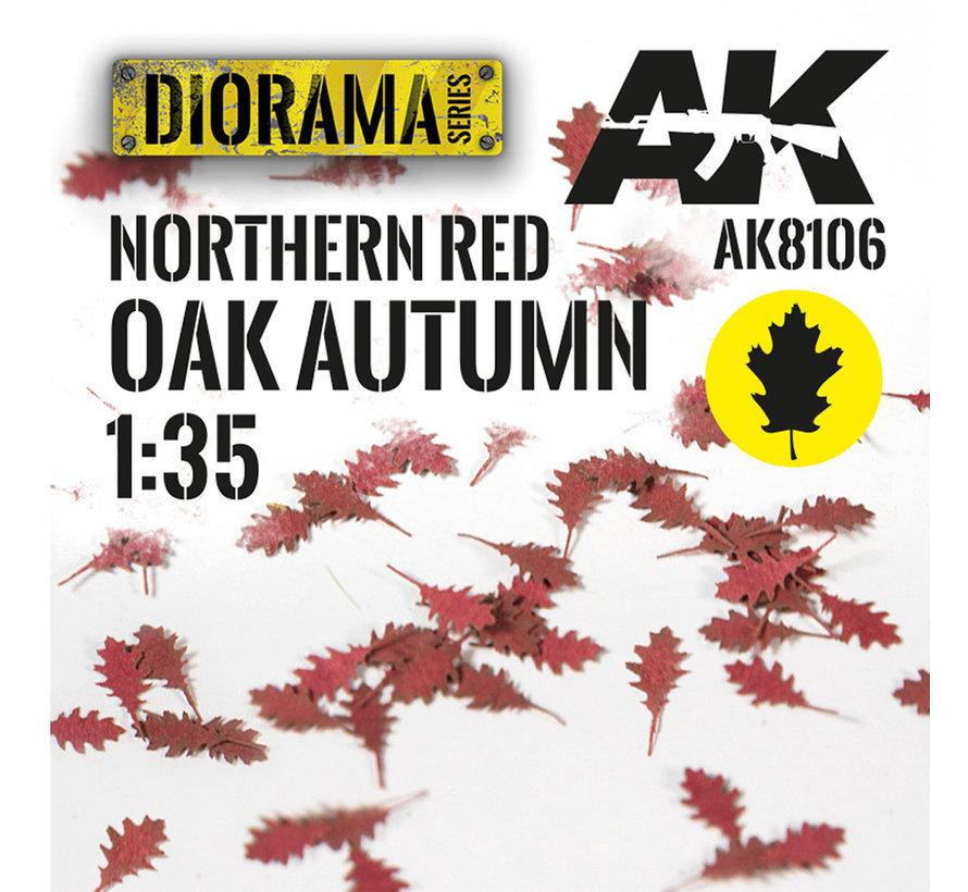 Lasercut Leaves Northern Red Oak Autumn 1:35 - AK8106