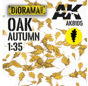 AK interactive Lasercut Leaves Oak Autumn 1:35 - AK8105