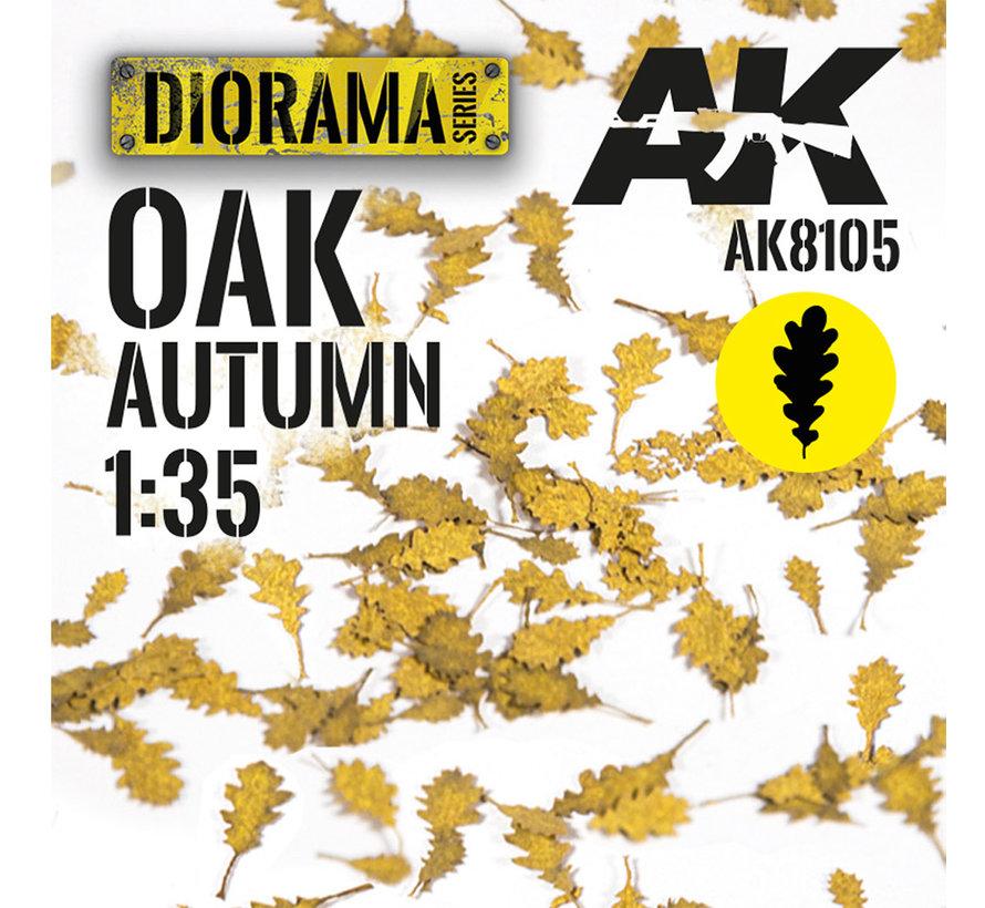 Lasercut Leaves Oak Autumn 1:35 - AK8105