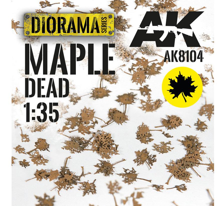 Lasercut Leaves Maple Dead Leaves 1:35 - AK8104