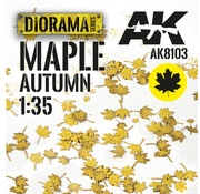 AK interactive Lasercut Leaves Maple Autumn 1:35 - AK8103