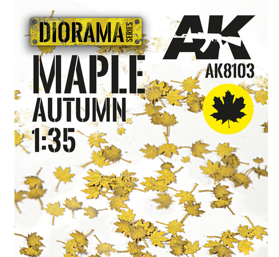 Lasercut Leaves Maple Autumn 1:35 - AK8103