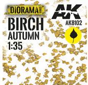 AK interactive Lasercut Leaves Birch Autumn 1:35 - AK8102