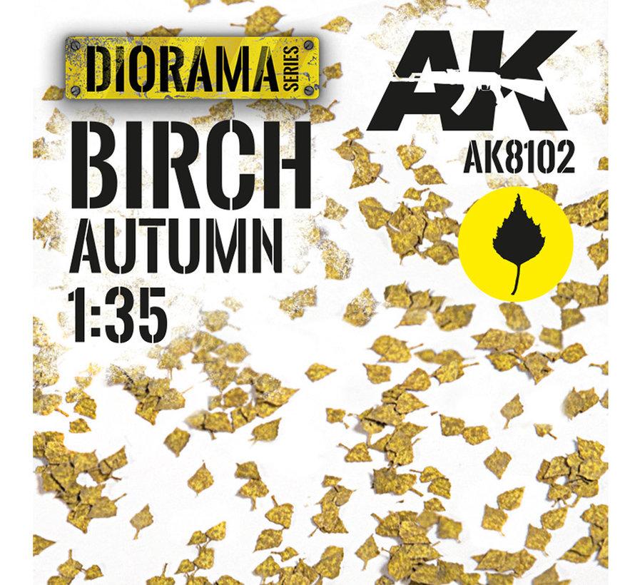 Lasercut Leaves Birch Autumn 1:35 - AK8102
