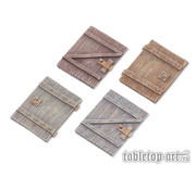Tabletop-Art Terrain components - Doors set 3 - 4x - TTA800024