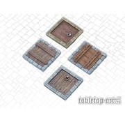 Tabletop-Art Terrain components - Trapdoors set 1 - 4x - TTA800009