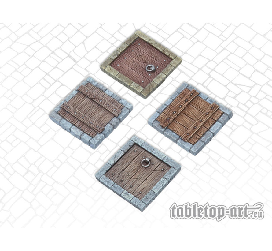 Terrain components - Trapdoors set 1 - 4x - TTA800009