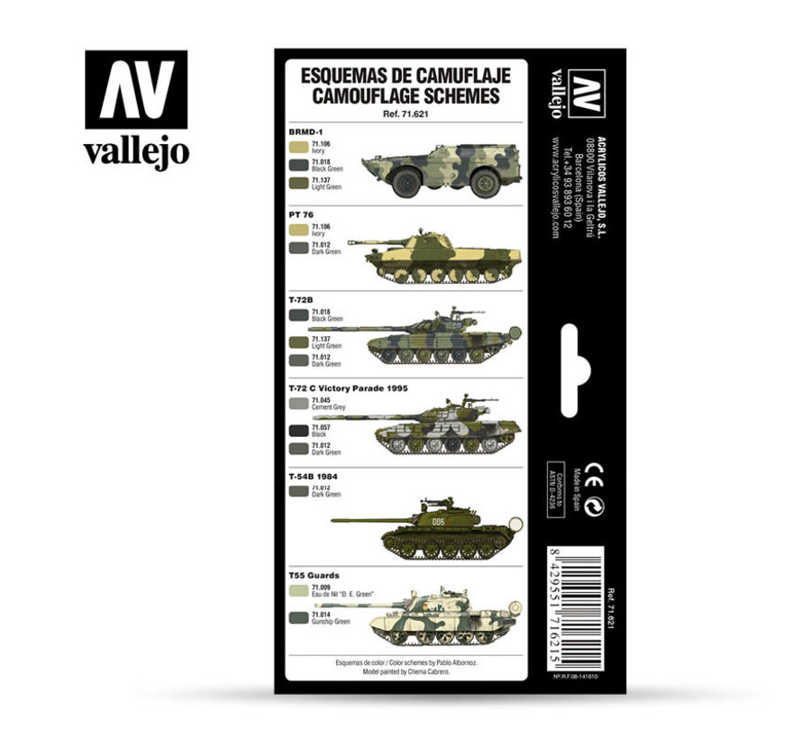 Model Air AFV Series Cold War & Modern Russian Green Patterns - 8 kleuren - 17ml - 71621