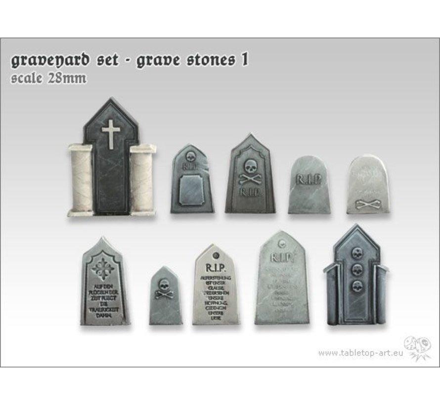 Graveyard Set - Grave Stones 1 - TTA601043