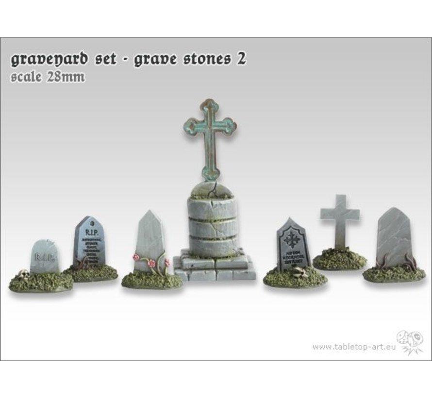Graveyard Set - Grave Stones 2 - TTA601044