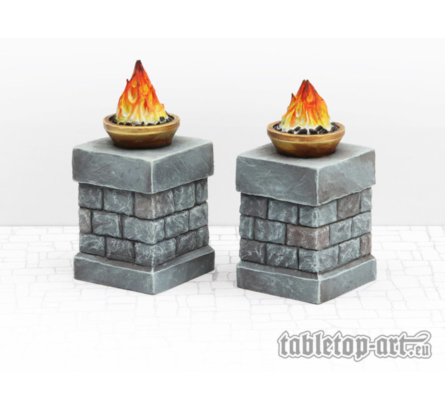 Fire Bowl on Pillars - 2x - TTA800025