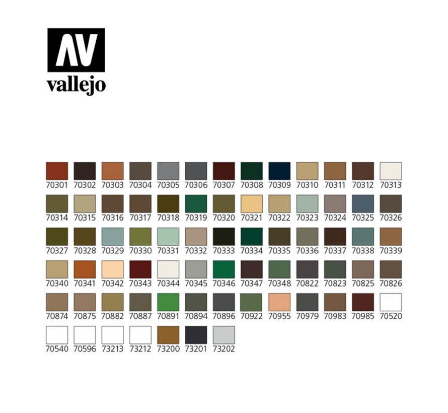 Model Color Panzer Aces + penselen - 72 kleuren - 17ml - 70174