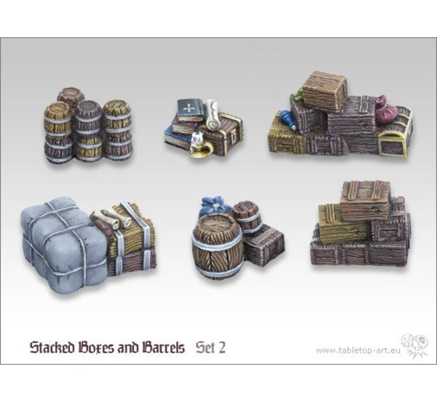 Stacked boxes and barrels set 2 - TTA600017