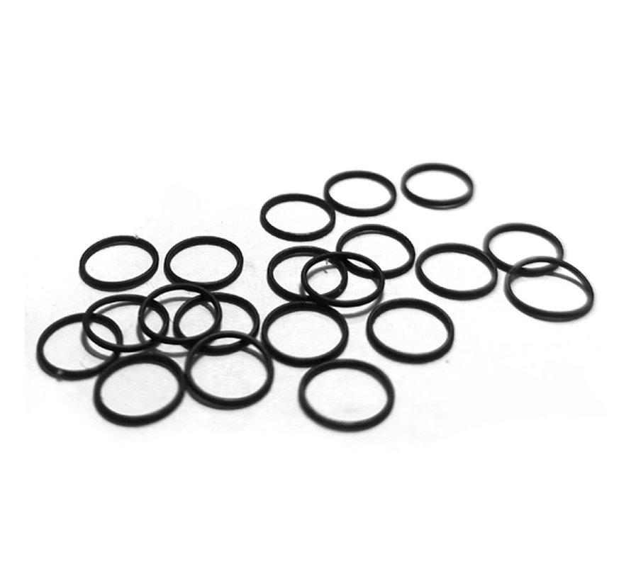 Rubber O-ringen voor Airbrush Basic Line 0.3 - 20x - AK-9004
