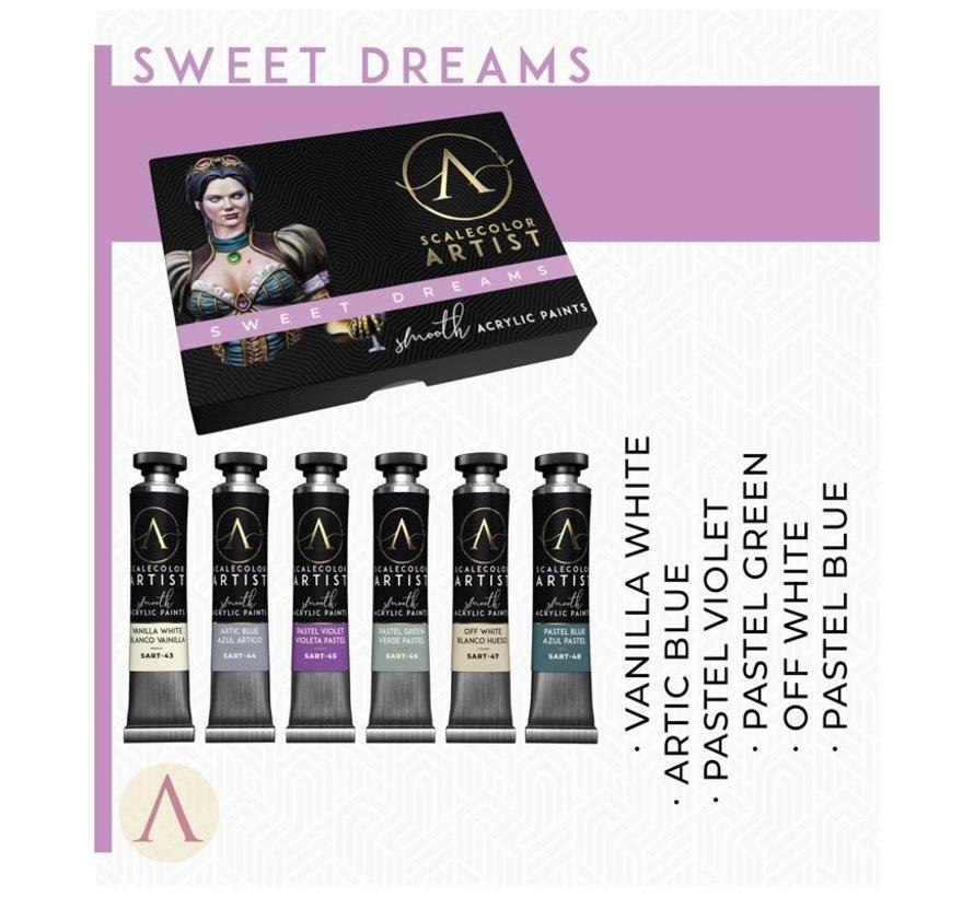 Sweet Dreams Artist kleuren - 6 kleuren - 20ml - SSAR-09