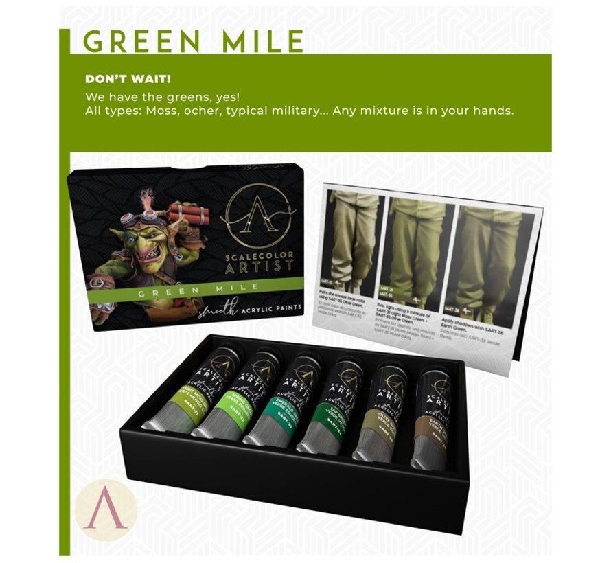 Green Mile Artist kleuren - 6 kleuren - 20ml - SSAR-07